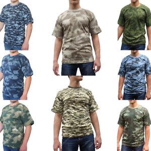 RUSSE T shirt à manches courtes Summer Militaire Camouflage Armée Combat Neuf