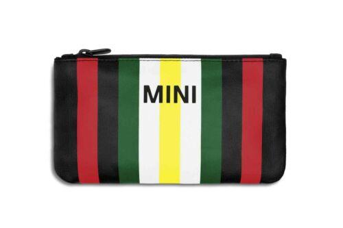 MINI Genuine Pouch Bag Clutch Striped Water Repellent Multicoloured 80212463258