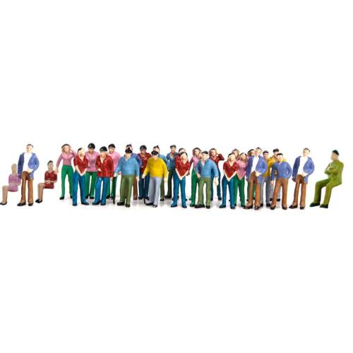 50pcs Hand Painted Model People Figures for Railway Train Street Layout 1:42