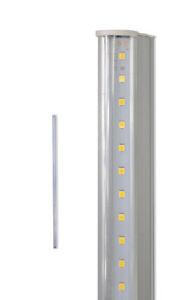 Sottopensile led smd trasparente reglette plafoniera 30 40 50 60 90 120 cm