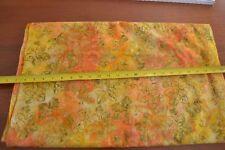 Mauve /& Purple Flowers on Orange Peach 1//2 yd Artistic Artifacts Batik 1014022