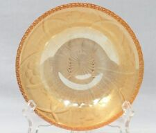 Jeannette Glass Co 1950s Iris and Herringbone Beaded Edge Iridescent Berry Bowl