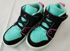 e21cd58bb066 item 4 Youth Size 9C Green Black Pink Nike Air Jordan 1 Flight 2 GS Leather  Sneakers -Youth Size 9C Green Black Pink Nike Air Jordan 1 Flight 2 GS  Leather ...