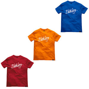 da1916931f2 Details about Dickies T-shirt Mens Hanston Crew Neck Short Sleeve Durable  DT6012 Work Tee