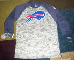 newest 9a0df 9d061 Details about NIKE Dry Legend BUFFALO BILLS Camo/Camouflage SALUTE TO  SERVICE Dri Fit SHIRT L