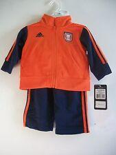Adidas Football Navy & Orange 2 Piece Jogging Suit Size 6M
