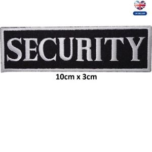 Security Badge Embroidered Iron On Sew On PatchBadge For Jackets Clothes etc