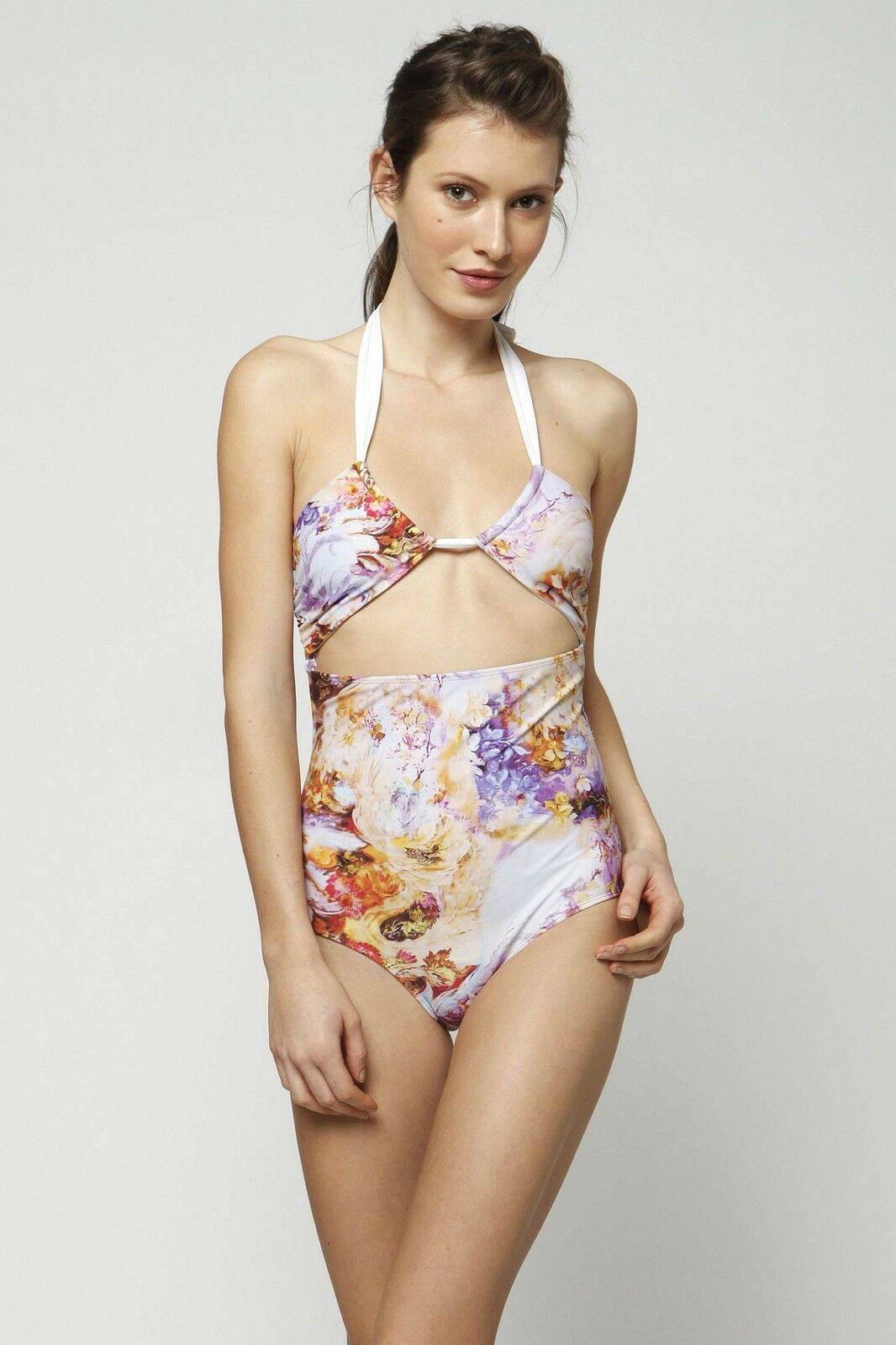 Anthropologie One-Piece Swimsuit Maillot pinkrito Swim By Amore & Sorvete 8 10 L