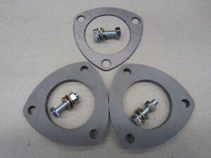 Exhaust-Flange-Kit-2-25-Inch-3-Bolt-Mild-Steel-Laser-Cut-8mm-Thick