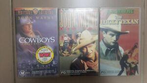 John-Wayne-Riders-Of-Destiny-The-Lucky-Texen-The-Cowboy-VHS-Tape-Video