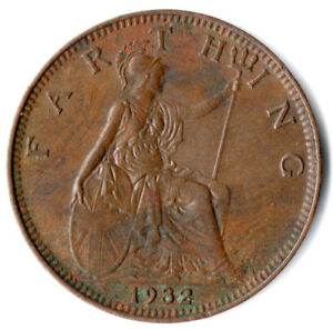 1932-ONE-FARTHING-OF-KING-GEORGE-V-VERY-HIGH-GRADE-EZ218