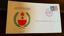 International Olympic Committee First Day of Issue stamp Briefmarke Tonga 1984
