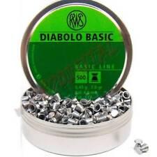 PIOMBINI RWS BASIC DIABOLO CAL 4.5 mm TESTA PIATTA 500 Pz PIOMBO ARIA COMPRESSA
