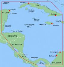 Garmin BlueChart Data Card - MUS031R Southwest Caribbean for GPSMAP