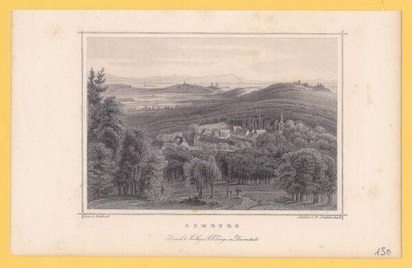 """""""rehburg"""" Panorama - Stst.von Fr.hablitscheck Nach L.rohbock Bei G.g.lange Waren Des TäGlichen Bedarfs"""