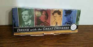 Drink With The Great Drinkers Shot Glass Set Yeats Wilde Thomas W.C. Fields