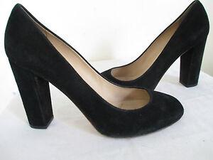 e54805c476c J. CREW Etta BLACK Suede Pumps Heel Size 9.5 Made in Italy