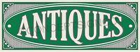 3'x8' Antiques Banner Outdoor Sign Large Market Shop Collectibles Furniture Sale