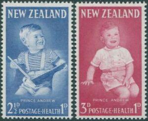 New-Zealand-1963-SG815b-816-Prince-Andrew-health-set-MNH