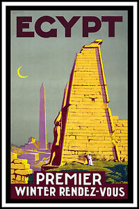 Egypt-Vintage-old-Travel-Poster-Print-art-canvas-large-painting