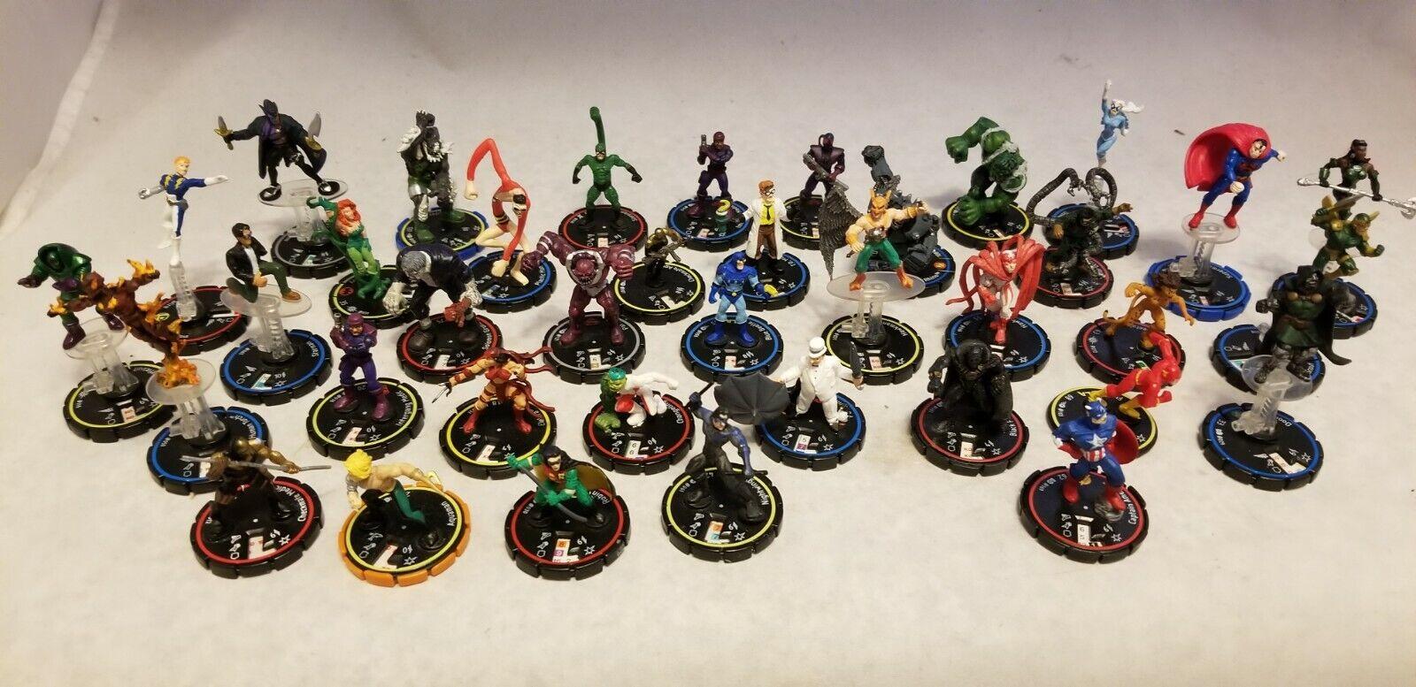 Figura De Dc Marvel Heroclix lote de 38 piezas