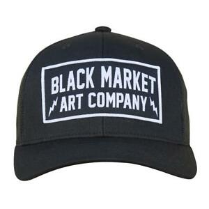 b560a857acfab3 Electric Black Market Art Snap Back Retro Trucker Hat Tattoo Art ...
