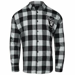 efe83f3b629 Forever Collectibles NFL Men s Oakland Raiders Check Long Sleeve ...