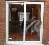 Upvc White Sliding Patio Doors - 2090mm X 1490mm / Fast Delivery