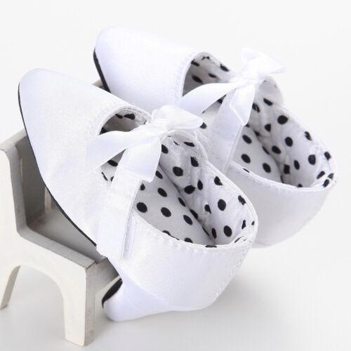 Newborn Baby Girl High Heels Soft Sole Toddler Bow Leopard Princess Crib Shoes