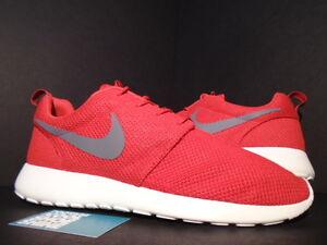 2013 Nike ROSHE RUN ROSHERUN SPORT RED WOLF COOL GREY SAIL WHITE 511881-601 10.5