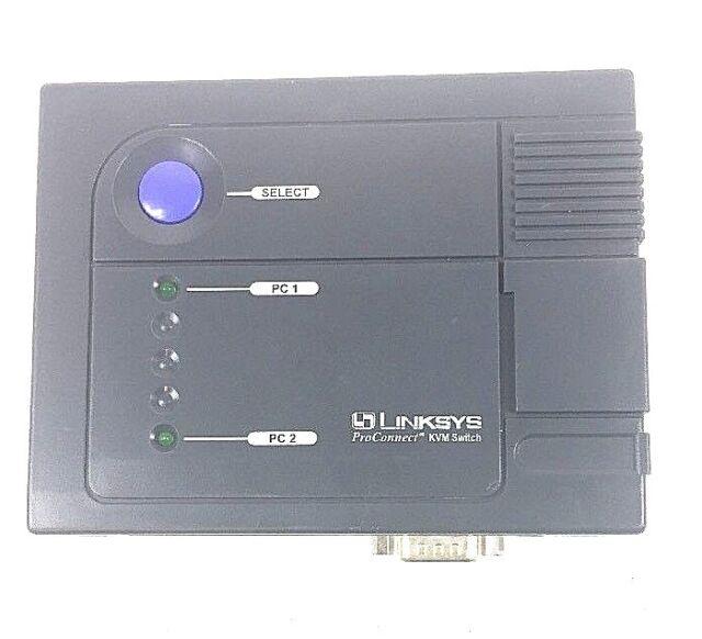 Linksys Model KVM100SK ProConnect KVM 2-Port Switch w/o Cables