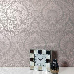 Rose-Sombre-Luxe-Damas-Papier-Peint-par-Arthouse-910306-Floral-Metallique