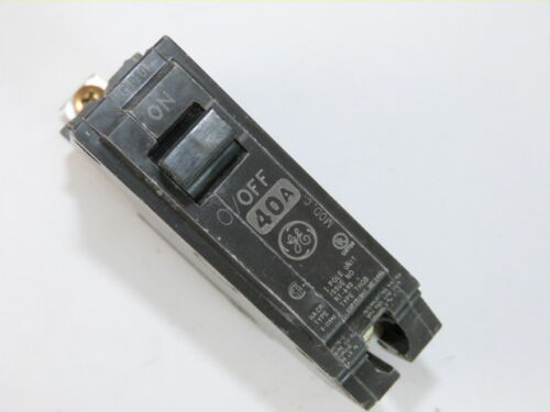 General Electric GE THQB1140 1p 40a 120v Circuit Breaker NEW 1-Year Warranty