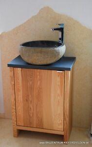 Details Zu Waschtisch Design Luxus Flussstein Holz Marmor Waschbecken Granit Gaste Bad Wc