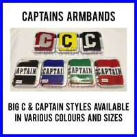 CAPTAINS ARMBAND FOR FOOTBALL, RUGBY, HOCKEY. Various Colours & Sizes Available
