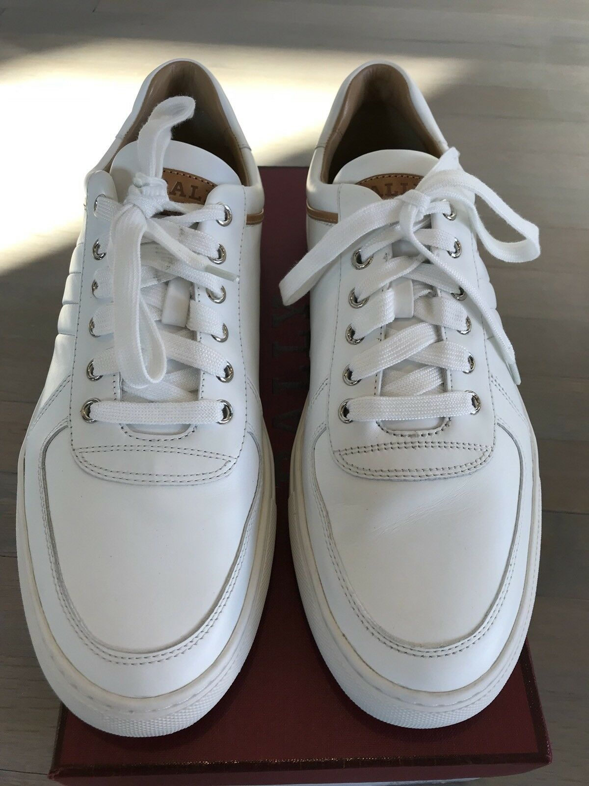 600  Bally Heider White Pelle    size US 10 4c5903