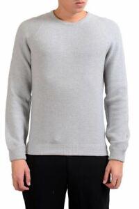 Details zu Malo Herren Rundhalsausschnitt Grau 100% Kaschmir Pullover Größe M 2XL