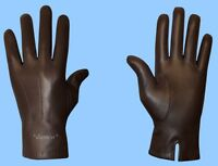 NEW MENS size 8.5 CASHMERE LINED GENUINE BROWN KID LEATHER GLOVES