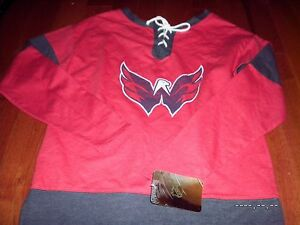6b56640ea Washington Capitals Women s Red Sexy Lace Up Shirt pullover jersey ...