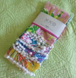 NEW-Lilly-Pulitzer-4-Pack-Cotton-NAPKIN-Set-Pom-20-034-x20-034-Fringe-Target-Lily-Multi