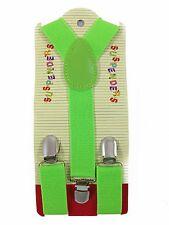 Kids Boy Girls Toddler Clip-on Suspenders Elastic Adjustable Braces