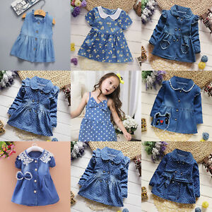 3cc9e869f0 Image is loading Casual-Cowboy-Toddlers-Children-Girls-Clothes-Trendy-Pretty -