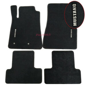 Fits 05 09 Ford Mustang Floor Mats Carpets Nylon Black W Mustang Embrodery Ebay