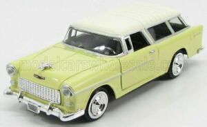 MOTOR-MAX 1/24 CHEVROLET   CHEVY BEL AIR NOMAD 1955   YELLOW WHITE
