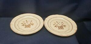 Vintage Hearthside Cumberland Stoneware MAYBLOSSOM Set/2 Dinner Plates JAPAN