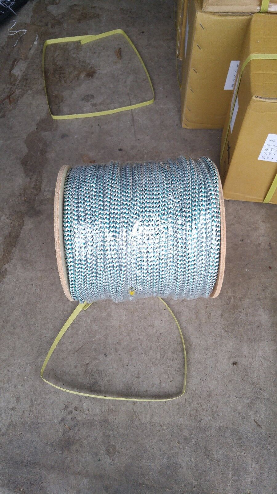Leadline 50 lbs 600ft spool single lead core inside