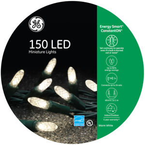 Ge Energy Smart 150 Led Warm White Mini Lights Green Wire