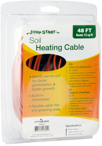Jump Start Soil Heating Cable 48/' Built-in thermostat SAVE $$ W// BAY HYDRO $$
