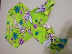 Handmade fleece scarf Listing # S286 Disney Tinkerbell