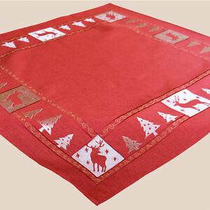 Tischdecke 85 X 85 Cm Mitteldecke Tischdeko Modern Rot Gold